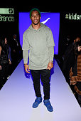 Victor Cruz of the New York Giants attends Rookie USA Presents Kids Rock Front Row Backstage Fall 2016 New York Fashion Week The Shows at The Dock...