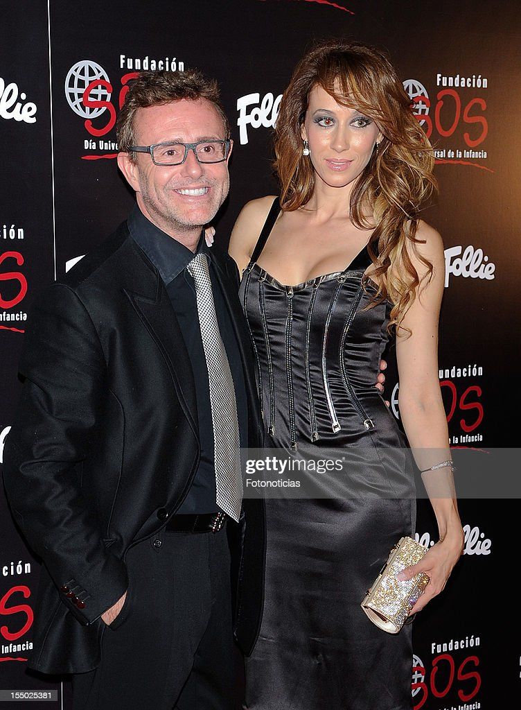 Victor Cucart (L) and Ana Candi attend the 'Folli Follie' campaign launch at the Casino de Madrid on October 30, 2012 in Madrid, Spain.