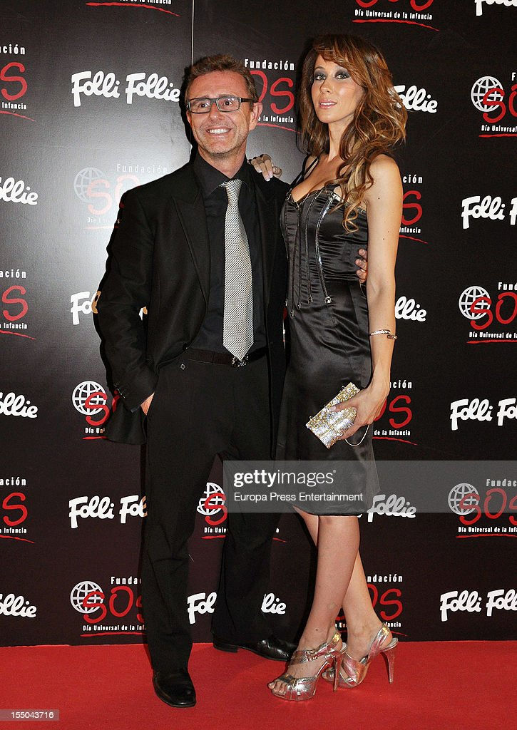 Victor Cucart and Ana Candi attend the 'Folli Follie' campaign launch on October 30, 2012 in Madrid, Spain.
