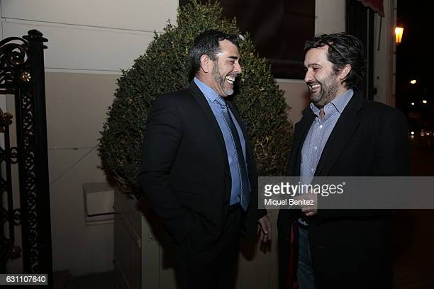 Victor del Arbol and Alvaro Colomer attend the 73th Nadal Literature Awards at the Palace Hotel Barcelona on January 6 2017 in Barcelona Spain