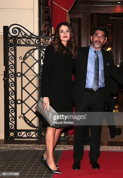 Victor del Arbol and Evo Olaya attend the 73th Nadal Literature Awards at the Palace Hotel Barcelona on January 6 2017 in Barcelona Spain