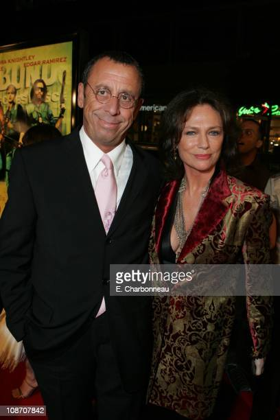 Victor Drai and Jacqueline Bisset during New Line Cinema's 'Domino' Los Angeles Premiere at Grauman's Chinese Theatre in Los Angeles California...