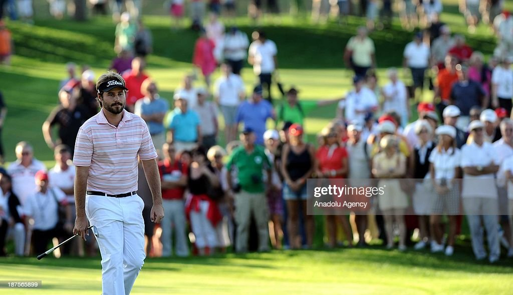 Victor Dubuisson of France is seen during the final round of the 'Turkish Airlines Open Golf Tournament' of PGA European Tour Final Series on November 10, 2013 in Antalya, Turkey.