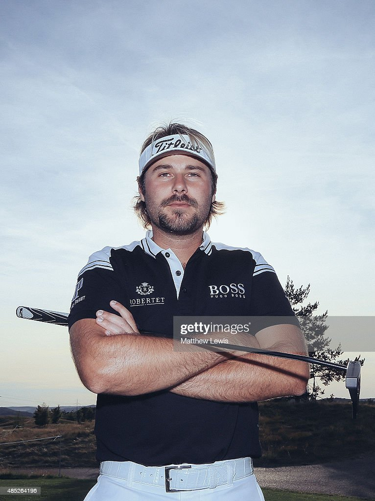 <a gi-track='captionPersonalityLinkClicked' href=/galleries/search?phrase=Victor+Dubuisson&family=editorial&specificpeople=3333395 ng-click='$event.stopPropagation()'>Victor Dubuisson</a> of France poses for a portrait during a practice round ahead of the D+D Real Czech Masters at Albatross Golf Resort on August 26, 2015 in Prague, Czech Republic.