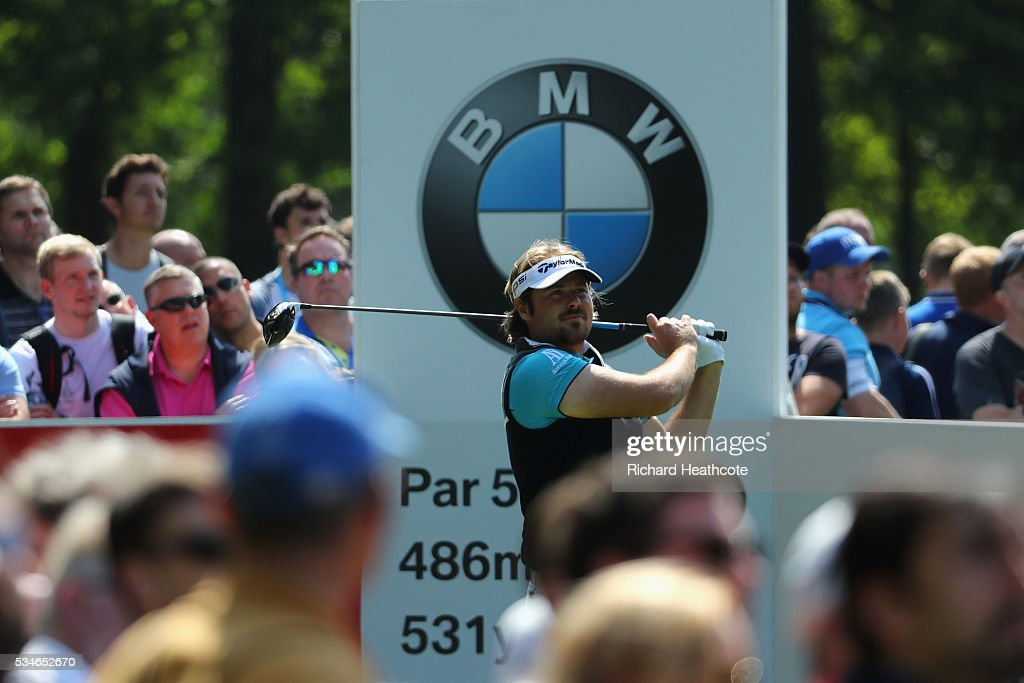 <a gi-track='captionPersonalityLinkClicked' href=/galleries/search?phrase=Victor+Dubuisson&family=editorial&specificpeople=3333395 ng-click='$event.stopPropagation()'>Victor Dubuisson</a> of France tees off on the 12th hole during day two of the BMW PGA Championship at Wentworth on May 27, 2016 in Virginia Water, England.