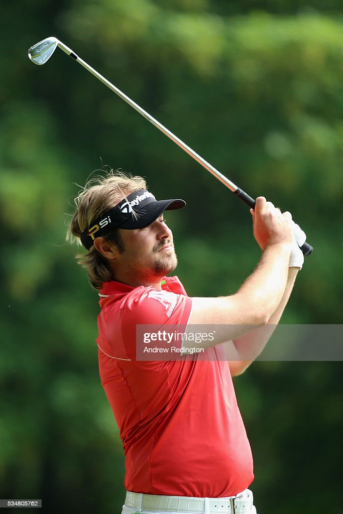 <a gi-track='captionPersonalityLinkClicked' href=/galleries/search?phrase=Victor+Dubuisson&family=editorial&specificpeople=3333395 ng-click='$event.stopPropagation()'>Victor Dubuisson</a> of France tees off on the 2nd hole during day three of the BMW PGA Championship at Wentworth on May 28, 2016 in Virginia Water, England.