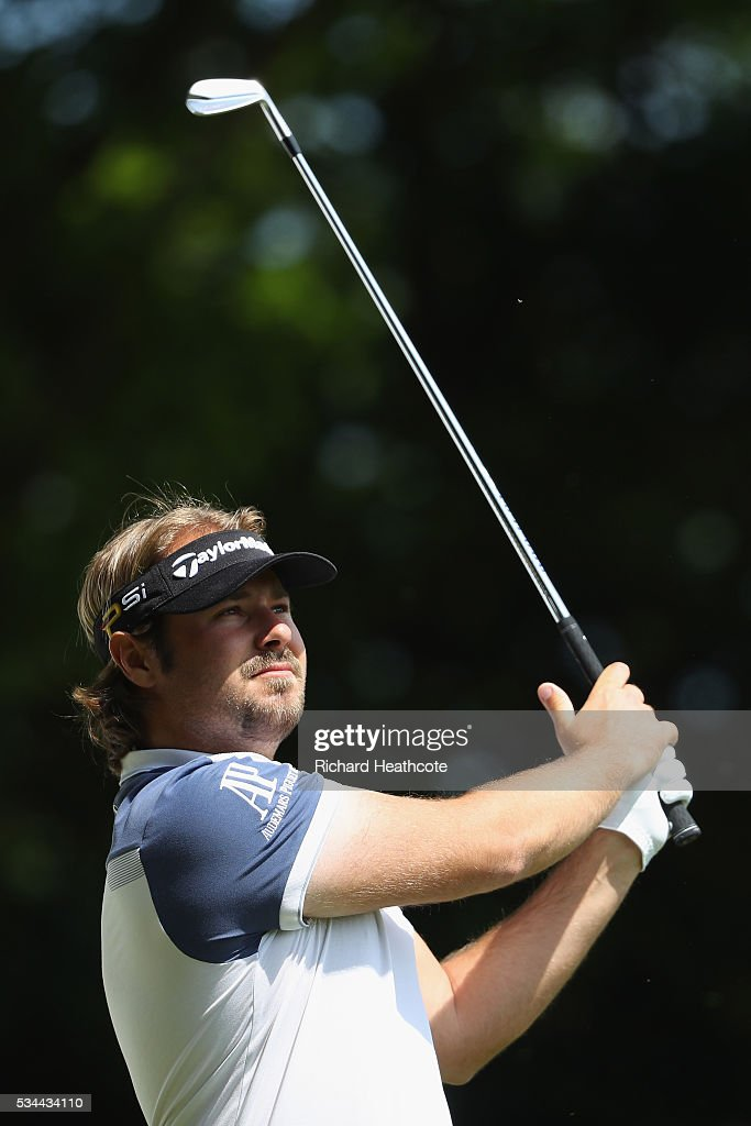<a gi-track='captionPersonalityLinkClicked' href=/galleries/search?phrase=Victor+Dubuisson&family=editorial&specificpeople=3333395 ng-click='$event.stopPropagation()'>Victor Dubuisson</a> of France tees off on the 2nd holecduring day one of the BMW PGA Championship at Wentworth on May 26, 2016 in Virginia Water, England.