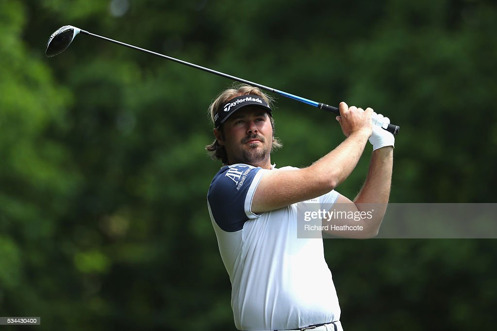 <a gi-track='captionPersonalityLinkClicked' href=/galleries/search?phrase=Victor+Dubuisson&family=editorial&specificpeople=3333395 ng-click='$event.stopPropagation()'>Victor Dubuisson</a> of France tees off onthe 3rd hole during day one of the BMW PGA Championship at Wentworth on May 26, 2016 in Virginia Water, England.