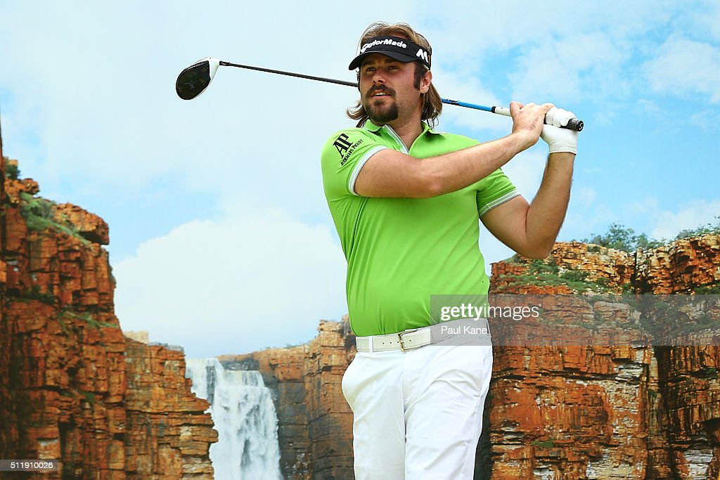 <a gi-track='captionPersonalityLinkClicked' href=/galleries/search?phrase=Victor+Dubuisson&family=editorial&specificpeople=3333395 ng-click='$event.stopPropagation()'>Victor Dubuisson</a> of France watches his tee shot on the 18th hole during the Pro-Am ahead of the 2016 Perth International at Lake Karrinyup Country Club on February 24, 2016 in Perth, Australia.