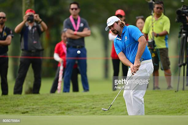Victor Dubuisson of Team Europe pictured during the day one of the EurAsia 2016 presented by DRBHICOM at Glenmarie GCC on January 15 2016 in Kuala...