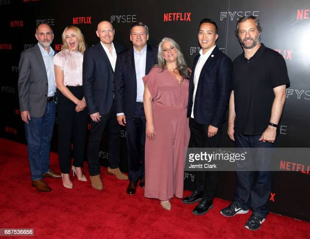 Victor Fresco Chelsea Handler Bill Burr Ted Sarandos Marta Kauffman Alan Yang and Judd Apatow attends Netflix Comedy Panel For Your Consideration...