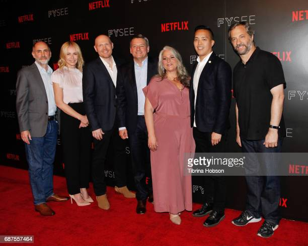 Victor Fresco Chelsea Handler Bill Burr Ted Sarandos Marta Kauffman Alan Yang and Judd Apatow attend Netflix's comedy panel for your consideration...