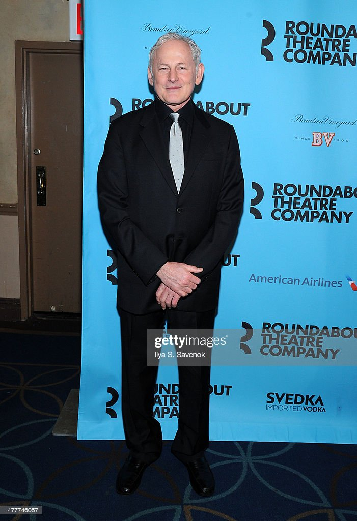 <a gi-track='captionPersonalityLinkClicked' href=/galleries/search?phrase=Victor+Garber&family=editorial&specificpeople=208795 ng-click='$event.stopPropagation()'>Victor Garber</a> attends Roundabout Theatre Company's 2014 Spring Gala at Hammerstein Ballroom on March 10, 2014 in New York City.