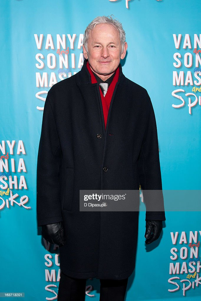 <a gi-track='captionPersonalityLinkClicked' href=/galleries/search?phrase=Victor+Garber&family=editorial&specificpeople=208795 ng-click='$event.stopPropagation()'>Victor Garber</a> attends the 'Vanya And Sonia And Masha And Spike' Broadway Opening Night at The Golden Theatre on March 14, 2013 in New York City.