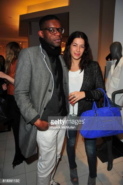 Victor Glemaud and Rebecca Minkoff attend EQUIPMENT Launch Party hosted by BECKA DIAMOND and SERGE AZRIA at Saks Fifth Avenue NYC on February 16 2010...
