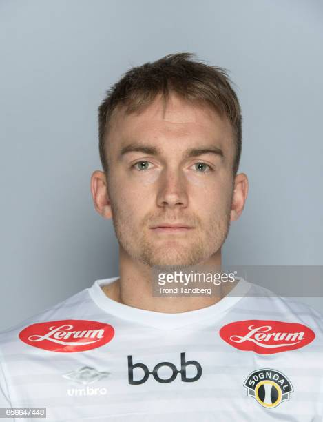 Victor Grodaas of Team Sogndal Fotball during Photocall on March 22 2017 in Sogndal Norway