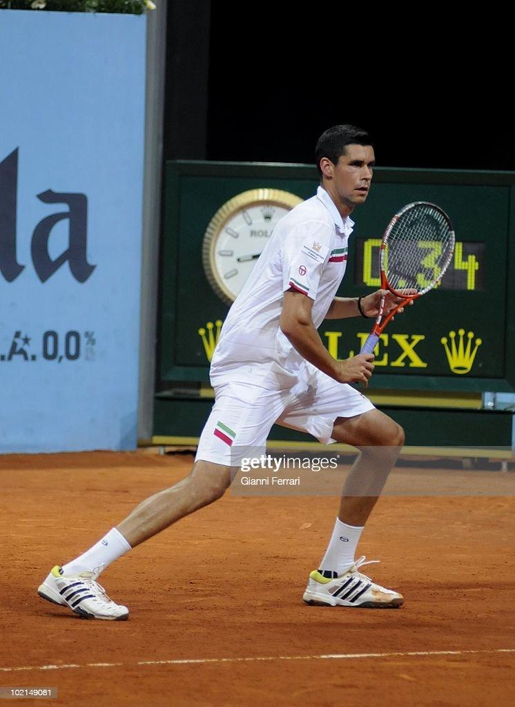 Victor Hanescu, ROU, in 'Mutua Madrilena Madrid Open' , 8th May 2010, in 'La Caja Magica'. Madrid, Spain.