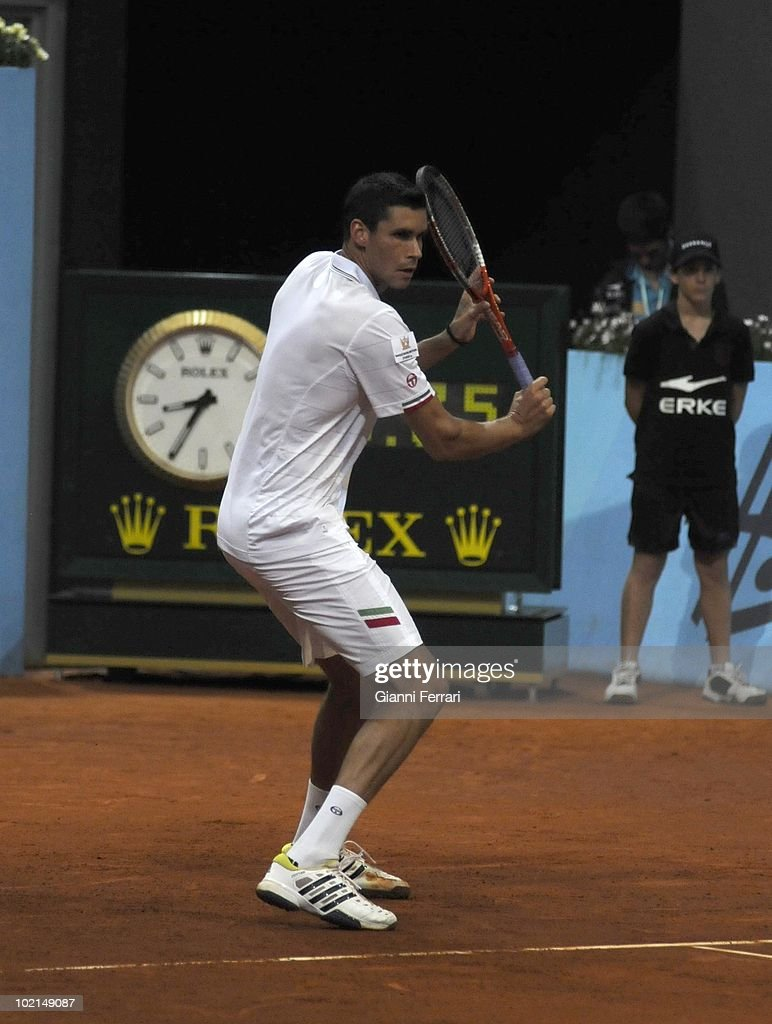 Victor Hanescu, ROU, in 'Mutua Madrilena Madrid Open' , 8th May 2010, in 'La Caja Magica'. Madrid, Spain.