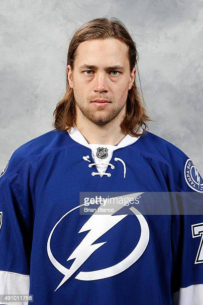 Victor Hedman of the Tampa Bay Lightning poses for his official headshot for the 20152016 season on September 17 2015 at Amalie Arena in Tampa Florida