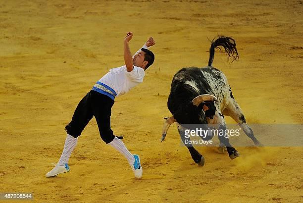 Victor Holgado Marzo performs during the Liga de Corte Puro finals at the Plaza de Toros on September 6 2015 in Valladolid Spain Corte Puro involves...