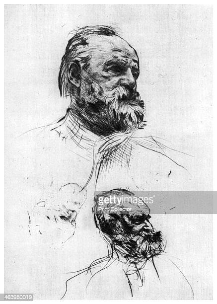 'Victor Hugo' c18601910 A print from A History of French Etching from the 16th Century to the Present Day by F L Leipnik John Lane the Bodley Head...
