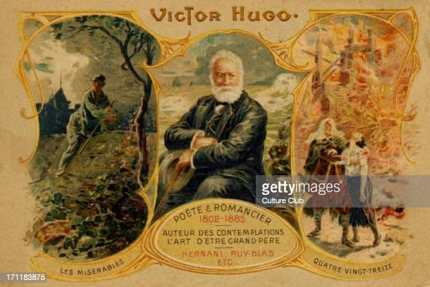 Victor Hugo French poet writer romancier 26 February 1802 22 May 1885 Illustration for Les Miserables and Quatre VingtTreize