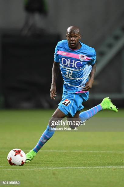 Victor Ibarbo of Sagan Tosu in action during the JLeague J1 match between Sagan Tosu and Urawa Red Diamonds at Best Amenity Stadium on June 25 2017...