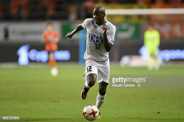 Victor Ibarbo of Sagan Tosu in action during the JLeague J1 match between Sagan Tosu and Omiya Ardija at Best Amenity Stadium on August 19 2017 in...