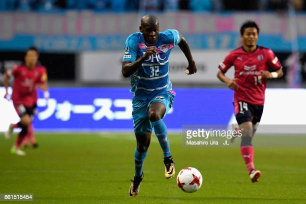 Victor Ibarbo of Sagan Tosu in action during the JLeague J1 match between Sagan Tosu and Cerezo Osaka at Best Amenity Stadium on October 15 2017 in...