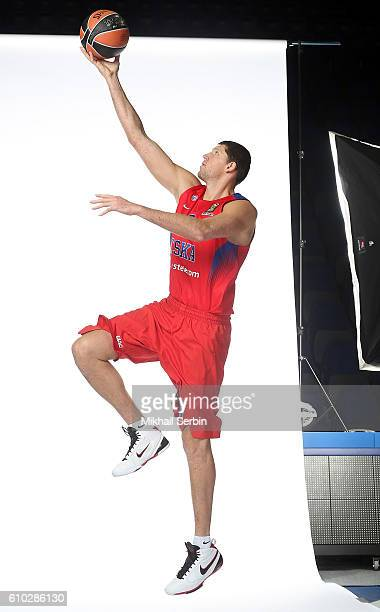 Victor Khryapa #31 of CSKA Moscow poses during the 2016/2017 Turkish Airlines EuroLeague Media Day at USH CSKA on September 23 2016 in Moscow Russia