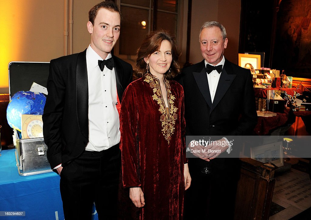 Victor Lamarque, Lady Emma Mahmood and William Lamarque attend The Jasmine Ball in aid of UNICEF's Children of Syria Emergency Appeal at One Mayfair on March 7, 2013 in London, England.