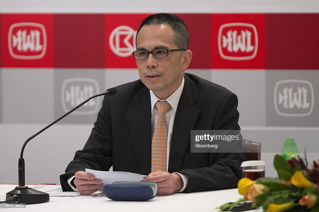 Victor Li, deputy chairman of Cheung Kong (Holdings) Ltd., attends a news conference in Hong Kong, China, on Tuesday, March 26, 2013. Cheung Kong Holdings, the builder controlled by Asia's richest man, said 2012 profit excluding contributions from unit Hutchison Whampoa Ltd. rose 6 percent as rental income growth offset a decline in home sales. Photographer: Jerome Favre/Bloomberg via Getty Images