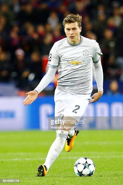 Victor Lindelöf of Manchester United is seen during the UEFA Champions League match between CSKA Moscow and Manchester United at VEB Arena in Moscow...