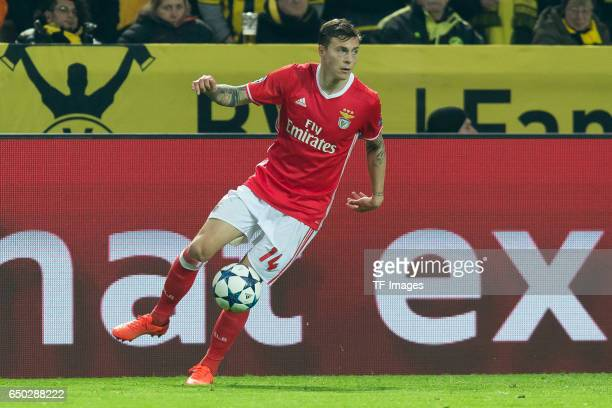 Victor Lindeloef of Benfica controls the ball during the UEFA Champions League Round of 16 Second Leg match between Borussia Dortmund and SL Benfica...