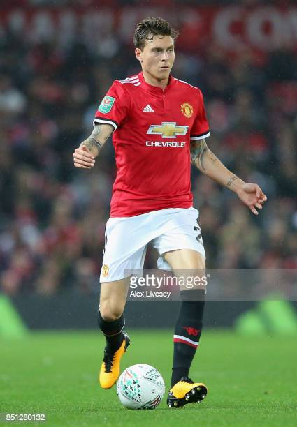 Victor Lindelof of Manchester United during the Carabao Cup Third Round match between Manchester United and Burton Albion at Old Trafford on...