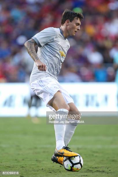 Victor Lindelof of Manchester United during the International Champions Cup 2017 match between FC Barcelona and Manchester United at FedExField on...