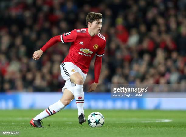 Victor Lindelof of Manchester United during the UEFA Champions League group A match between Manchester United and CSKA Moskva at Old Trafford on...