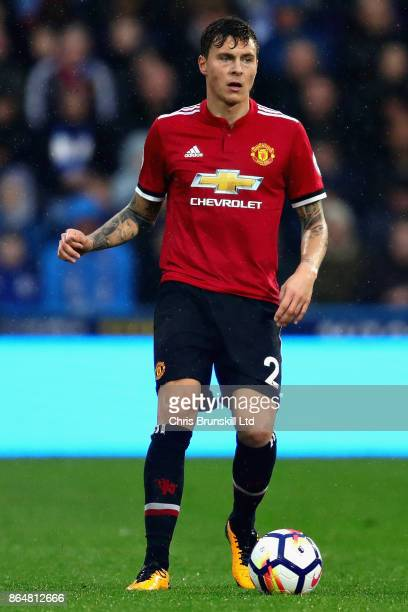 Victor Lindelof of Manchester United in action during the Premier League match between Huddersfield Town and Manchester United at John Smith's...