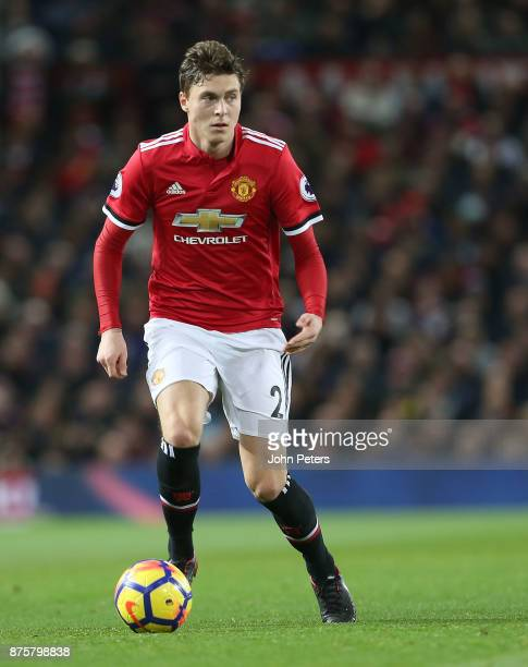 Victor Lindelof of Manchester United in action during the Premier League match between Manchester United and Newcastle United at Old Trafford on...