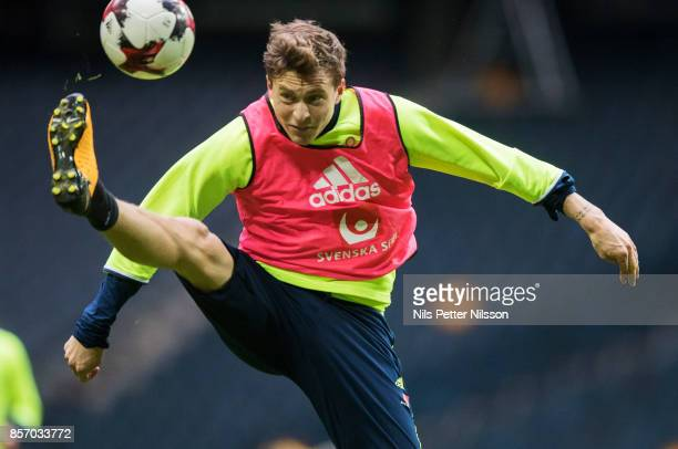 Victor Lindelof of Sweden during the FIFA 2018 World Cup Qualifier between Sweden and Luxembourg at Friends arena on October 3 2017 in Solna