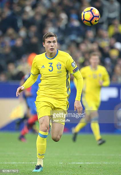 Victor Lindelof of Sweden in action during the FIFA 2018 World Cup Qualifier between France and Sweden at Stade de France on November 11 2016 in...