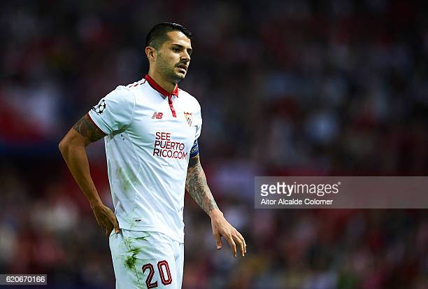 Victor Machin Perez 'Vitolo' of Sevilla FC looks on during the UEFA Champions League match between Sevilla FC vs GNK Dinamo Zagreb at the Sanchez...