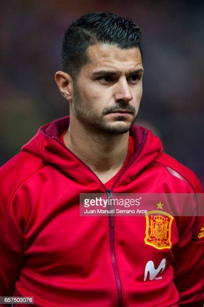 Victor Machin Perez 'Vitolo' of Spain looks on prior to the FIFA 2018 World Cup Qualifier between Spain and Israel at Estadio El Molinon on March 24...
