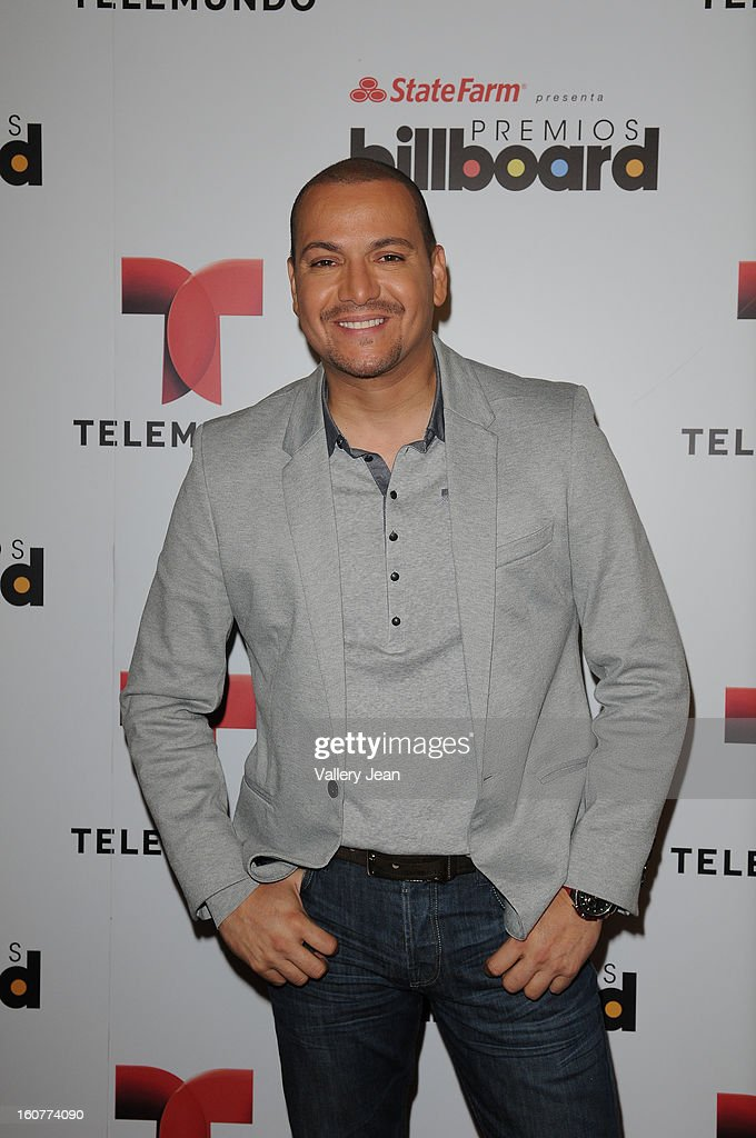 Victor Manuelle attends Telemundo and Premios Billboard 2013 Press Conference at Gibson Miami Showroom on February 5, 2013 in Miami, Florida.