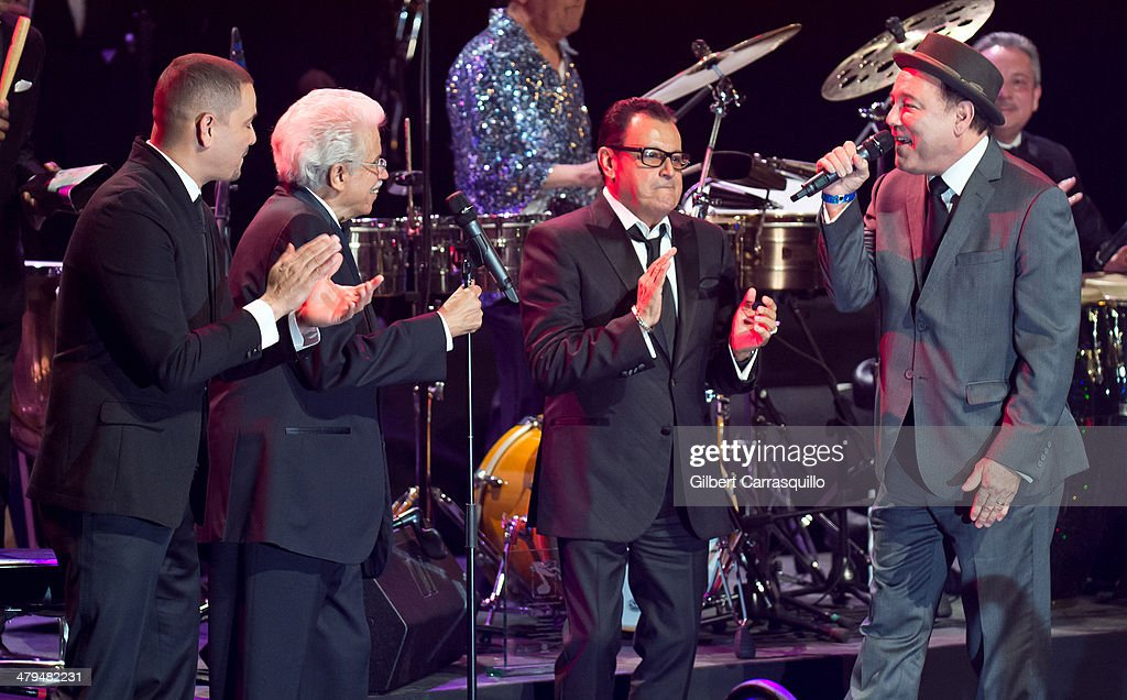Victor Manuelle, creator of the Fania All-Stars Johnny Pacheco, <a gi-track='captionPersonalityLinkClicked' href=/galleries/search?phrase=Ismael+Miranda&family=editorial&specificpeople=4426950 ng-click='$event.stopPropagation()'>Ismael Miranda</a> and <a gi-track='captionPersonalityLinkClicked' href=/galleries/search?phrase=Ruben+Blades&family=editorial&specificpeople=217243 ng-click='$event.stopPropagation()'>Ruben Blades</a> perform on stage at the 22nd annual ASCAP Latin Music Awards at Hammerstein Ballroom on March 18, 2014 in New York City.