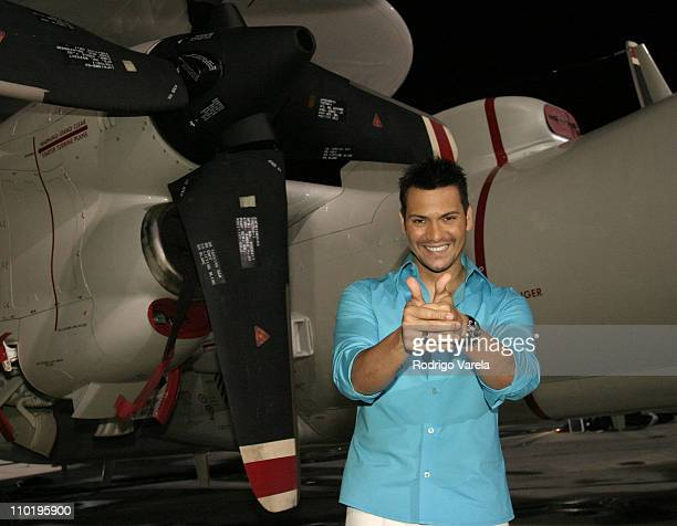 Victor Manuelle during 'A Tribute To Our Heroes' Backstage at Naval Station Norfolk in Norfolk Virginia United States