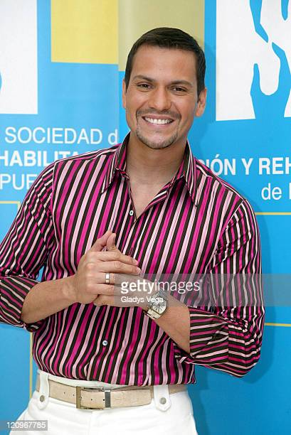 Victor Manuelle during Espectacular SER 2005 Telethon Press Room at Centro Bellas Artes Caguas in Caguas Puerto Rico