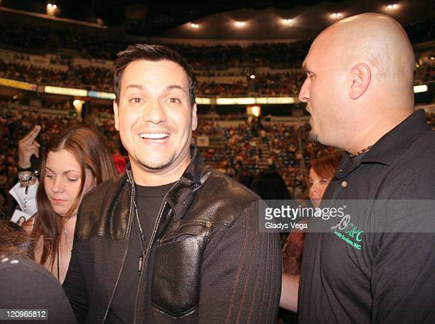 Victor Manuelle during Ricky Martin 'One Night Only' World Tour Puerto Rico February 18 2006 at Coliseo De Puerto Rico in San Juan Puerto Rico Puerto...