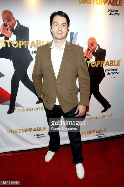 Victor Migalchan attends 'Unstoppable' Tariku Bogale book launch on September 22 2017 in West Hollywood California