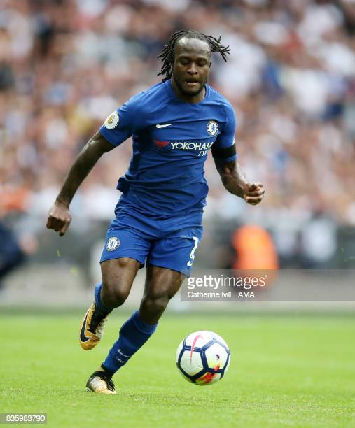 Victor Moses of Chelsea during the Premier League match between Tottenham Hotspur and Chelsea at Wembley Stadium on August 20 2017 in London England